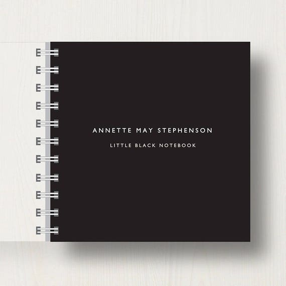 Personalised Little Black Small Notebook
