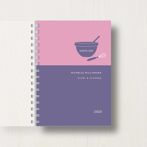 Personalised 2020 Diary For Baking Lovers