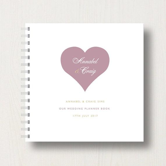 Personalised Heart Wedding Planner Book