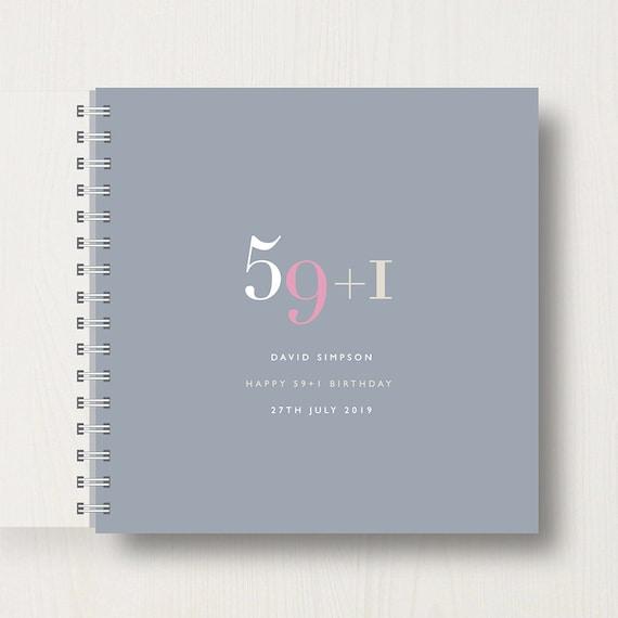 Personalised 60th Birthday Memory Book/Album