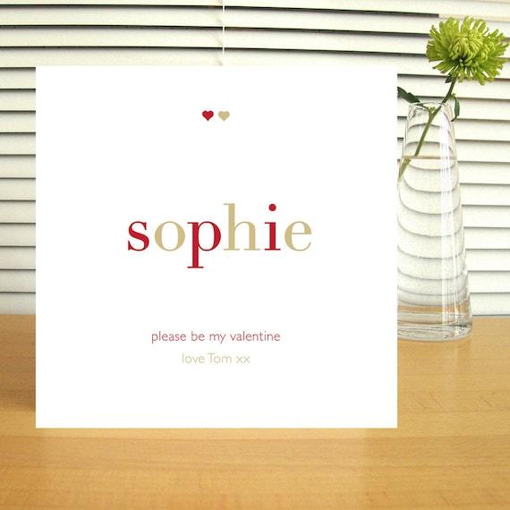 Personalised Be My Valentine Card