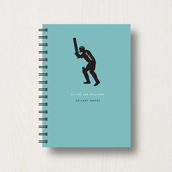 Personalised Cricket Lover's Journal or Notebook