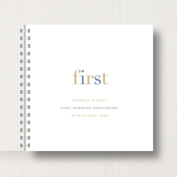 Personalised 1st Wedding Anniversary Memories Book or Album