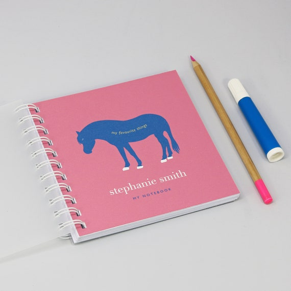 Personalised Children's Pony Small Notebook