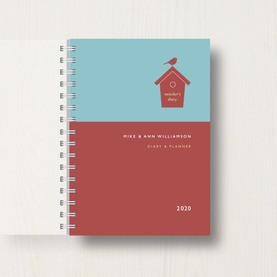 Personalised 2020 Diary For Birdwatchers