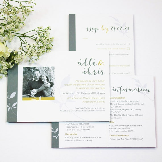 Photo Floral Wedding Stationery Collection