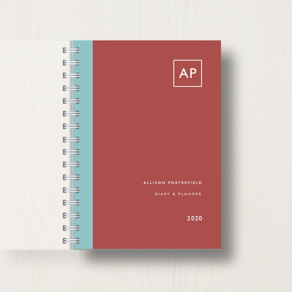 Personalised 2020 Diary With Double Initial Monogram