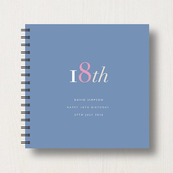 Personalised 18th Birthday Memories Book or Album