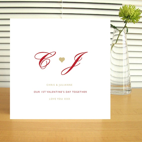 Personalised Couples Valentine Card