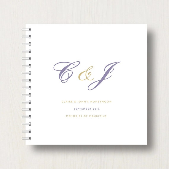 Personalised Honeymoon Memory Book or Album