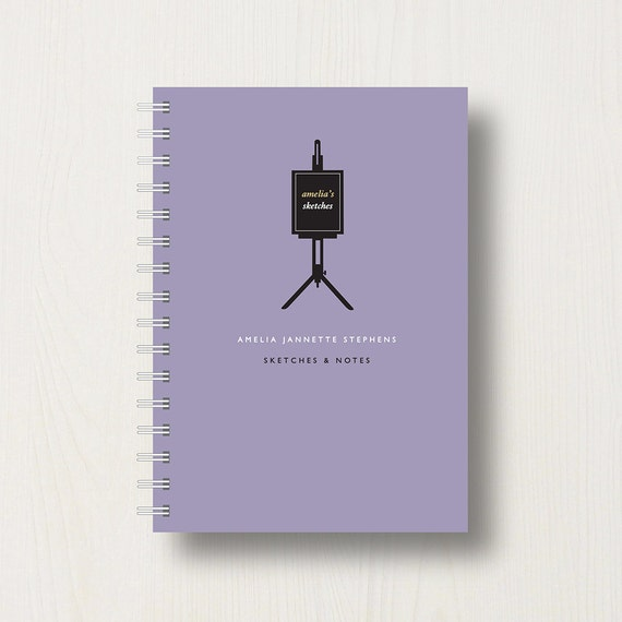 Personalised Art Lover's Journal or Notebook