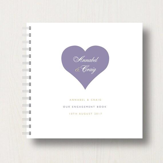 Personalised Engagement Heart Memory Book or Album
