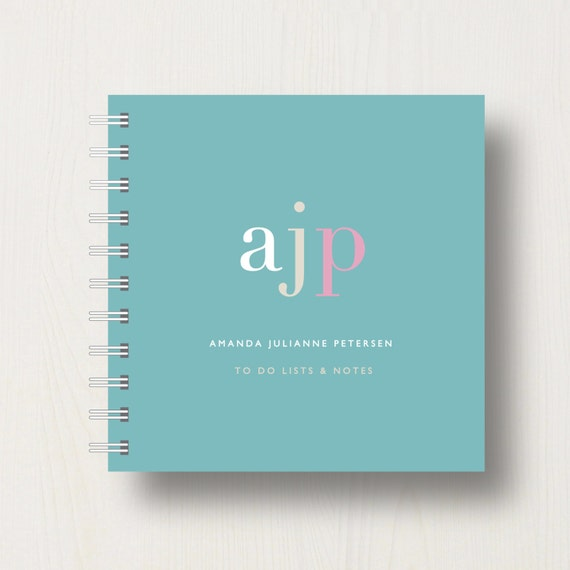 Personalised Name Initials Small Notebook