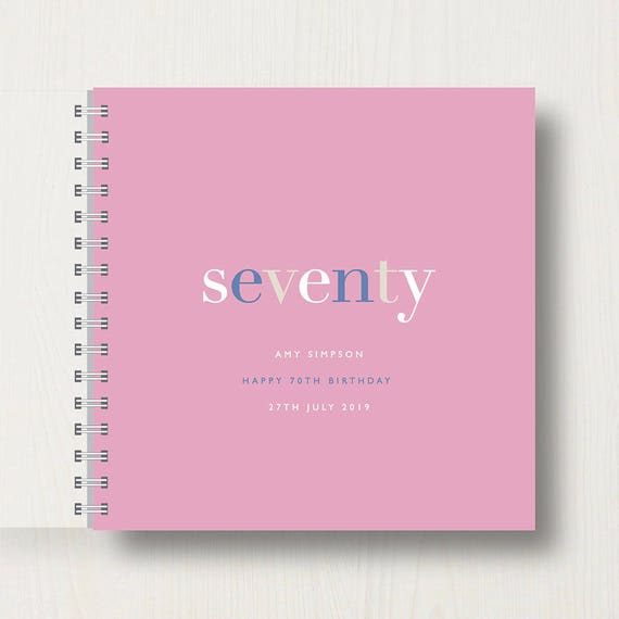 Personalised 70th Birthday Memory Book or Album