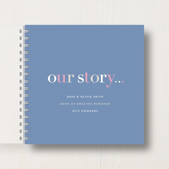 Personalised 'Our Story' Memory Book Or Album