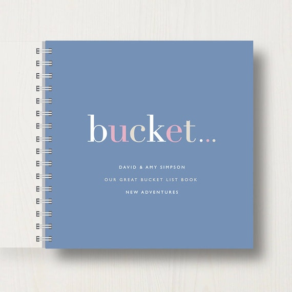 Personalised Bucket List Memory Book or Album