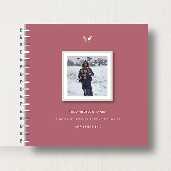 Personalised Christmas Memory Book