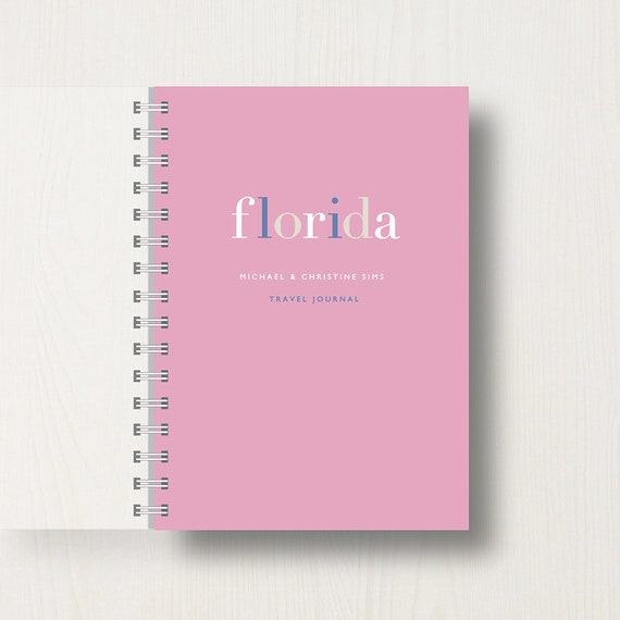 Personalised Travel or Holiday Journal or Notebook
