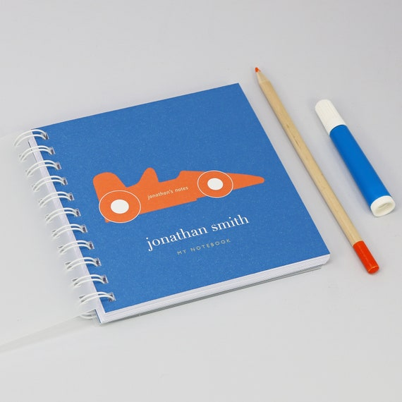 Personalised Children's Racing Car Small Notebook