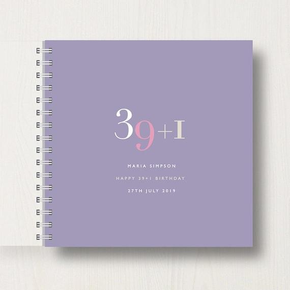 Personalised 40th Birthday Memory Book/Album
