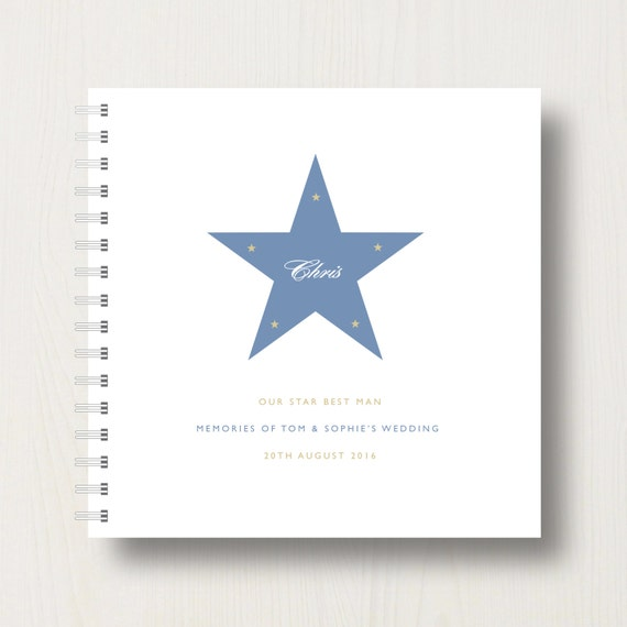 Personalised Best Man's Book or Album