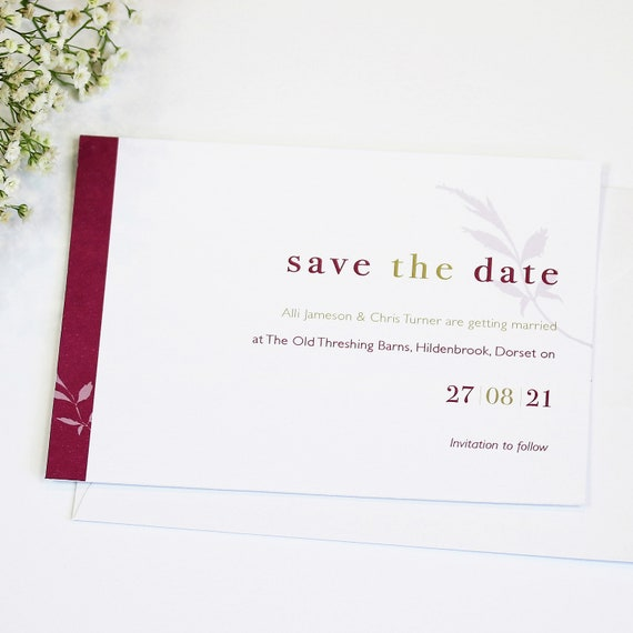Date Floral Wedding Save The Date Card
