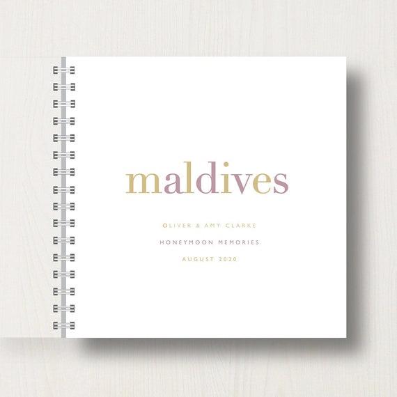 Personalised Honeymoon Destination Memory Book