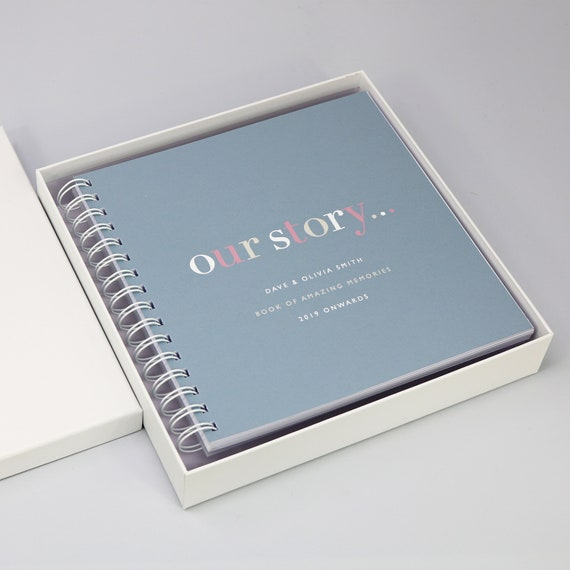 White Laminated Album/Memory Book Gift Box (Album NOT INCLUDED)