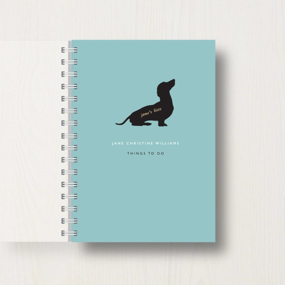 Personalised Dachshund Lovers Journal Or Notebook