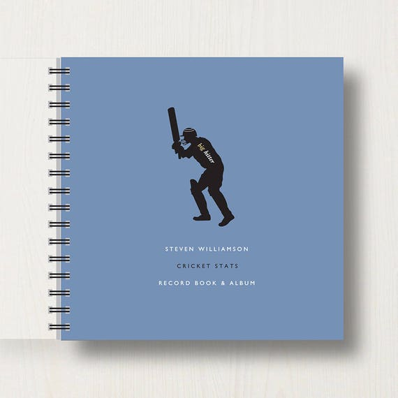 Personalised Cricket Lover's Book or Album