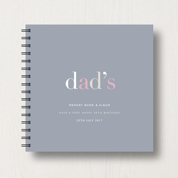 Personalised Dad Memory Book or Album
