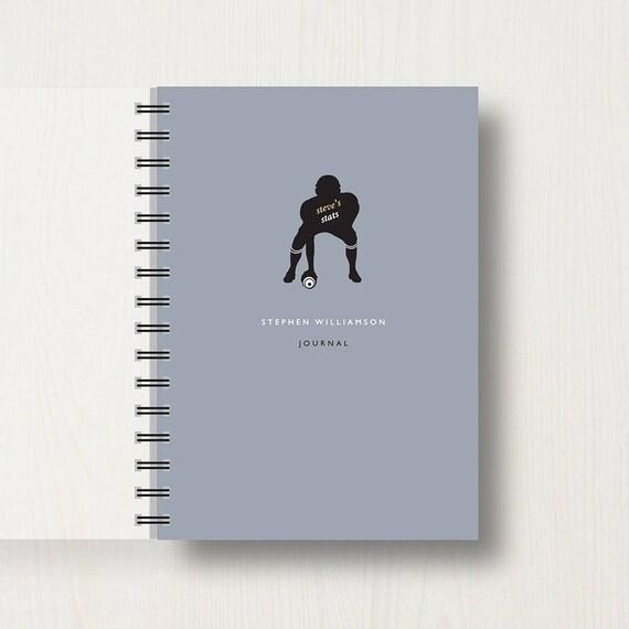Personalised American Football Lovers Journal
