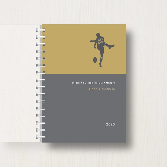 Personalised 2020 Diary For Rugby Lovers