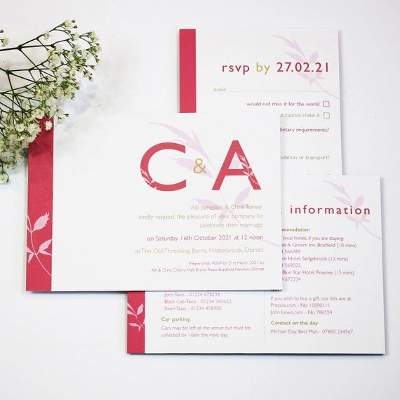 Initial Letters Wedding Stationery Collection