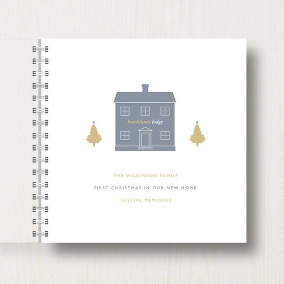 Personalised First Christmas in our New Home Memory Book or Album