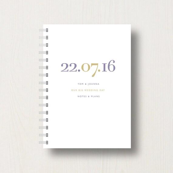 Personalised Wedding Planner or Journal