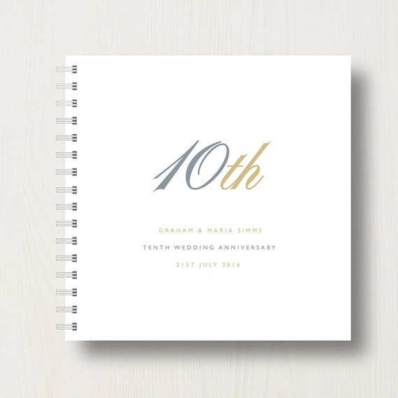 Personalised 10th Anniversary Memories Book or Album