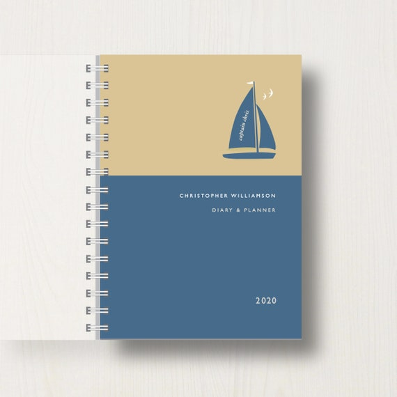 Personalised 2020 Diary For Boat Lovers