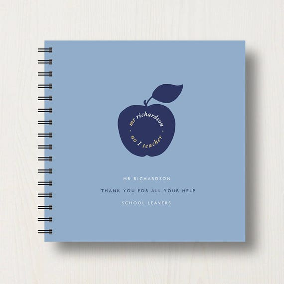 Personalised Teacher Memories Book or Album