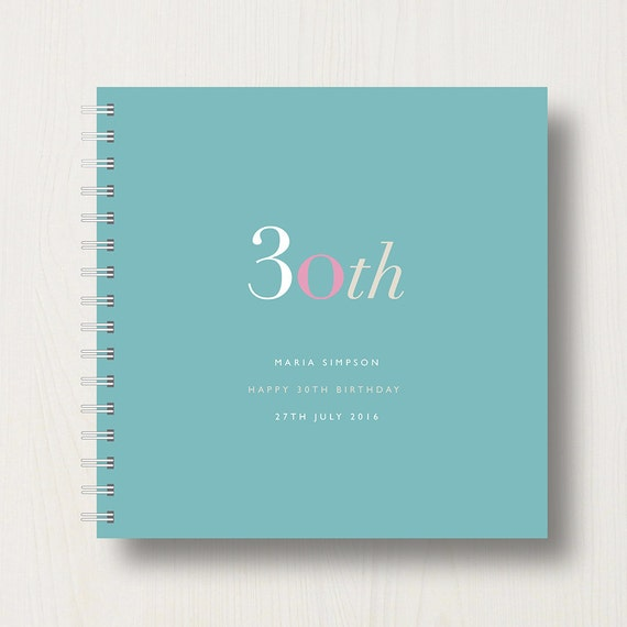 Personalised 30th Birthday Memories Book or Album
