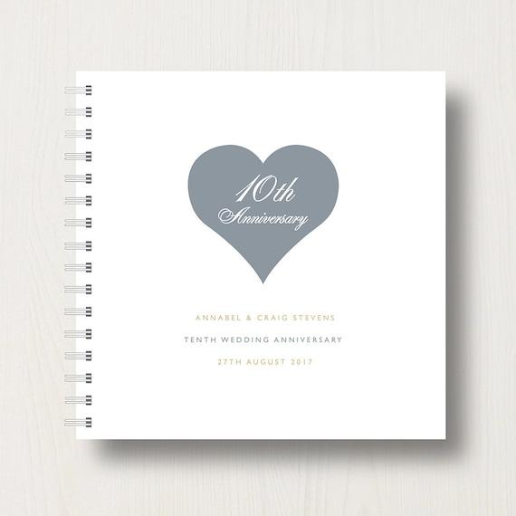 Personalised 10th Anniversary Memory Book or Album