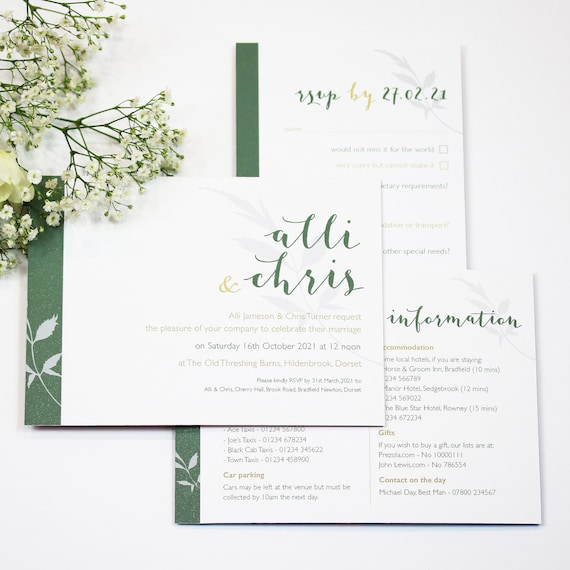 Names Floral Wedding Stationery Collection