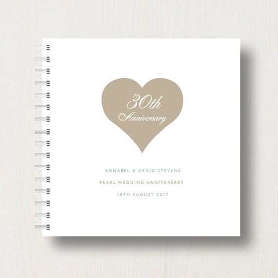 Personalised 30th Pearl Anniversary Memory Book or Album