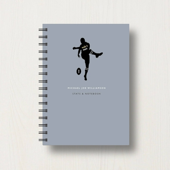 Personalised Rugby Lover's Journal or Notebook