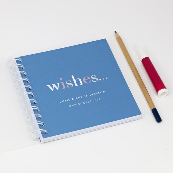 Personalised 'Wishes' Small Notebook