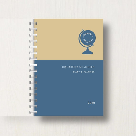 Personalised 2020 Diary For Travel Lovers