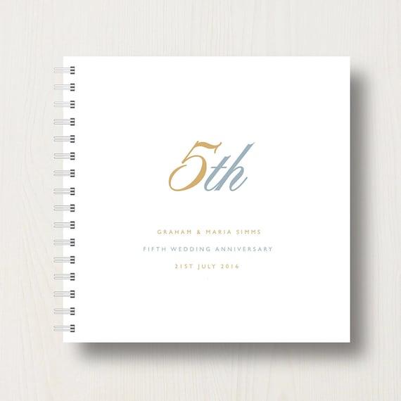 Personalised 5th Anniversary Book or Album