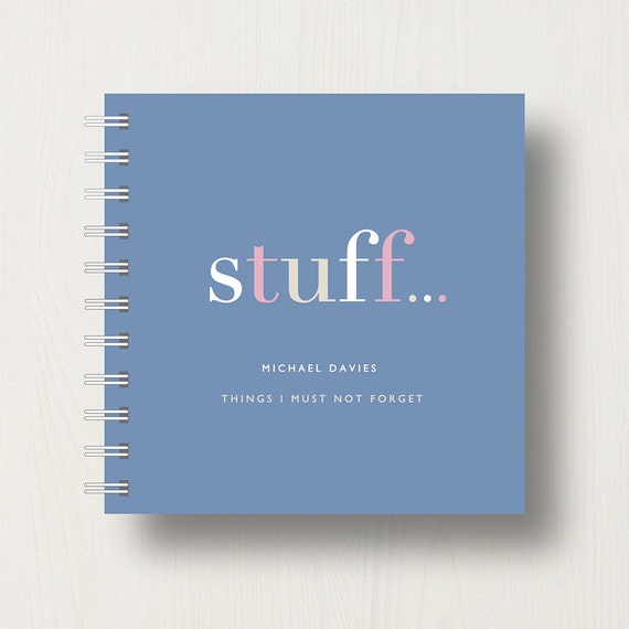 Personalised 'Stuff' To Do Small Notebook