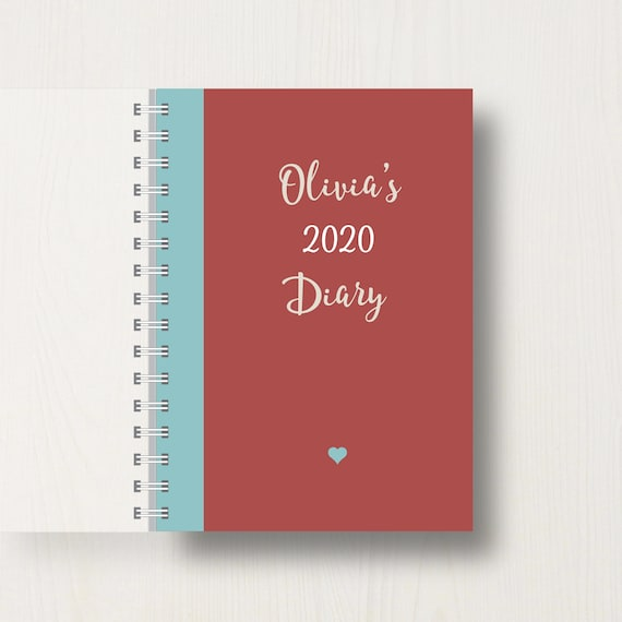 Personalised 2020 Diary with Name