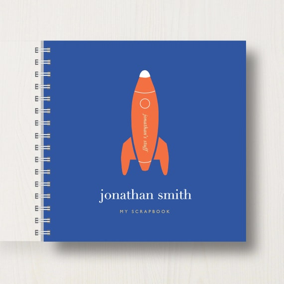 Personalised Kid's Space Rocket Scrapbook or Album